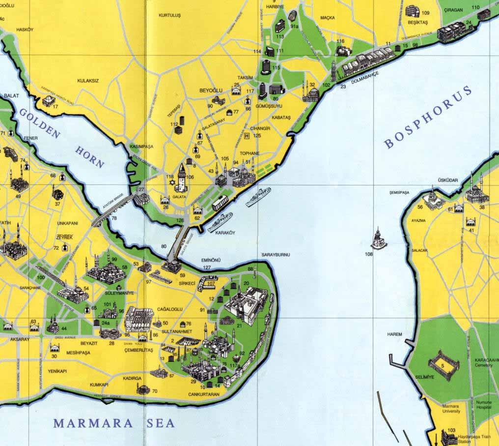 Κωνσταντινουπολη χαρτης