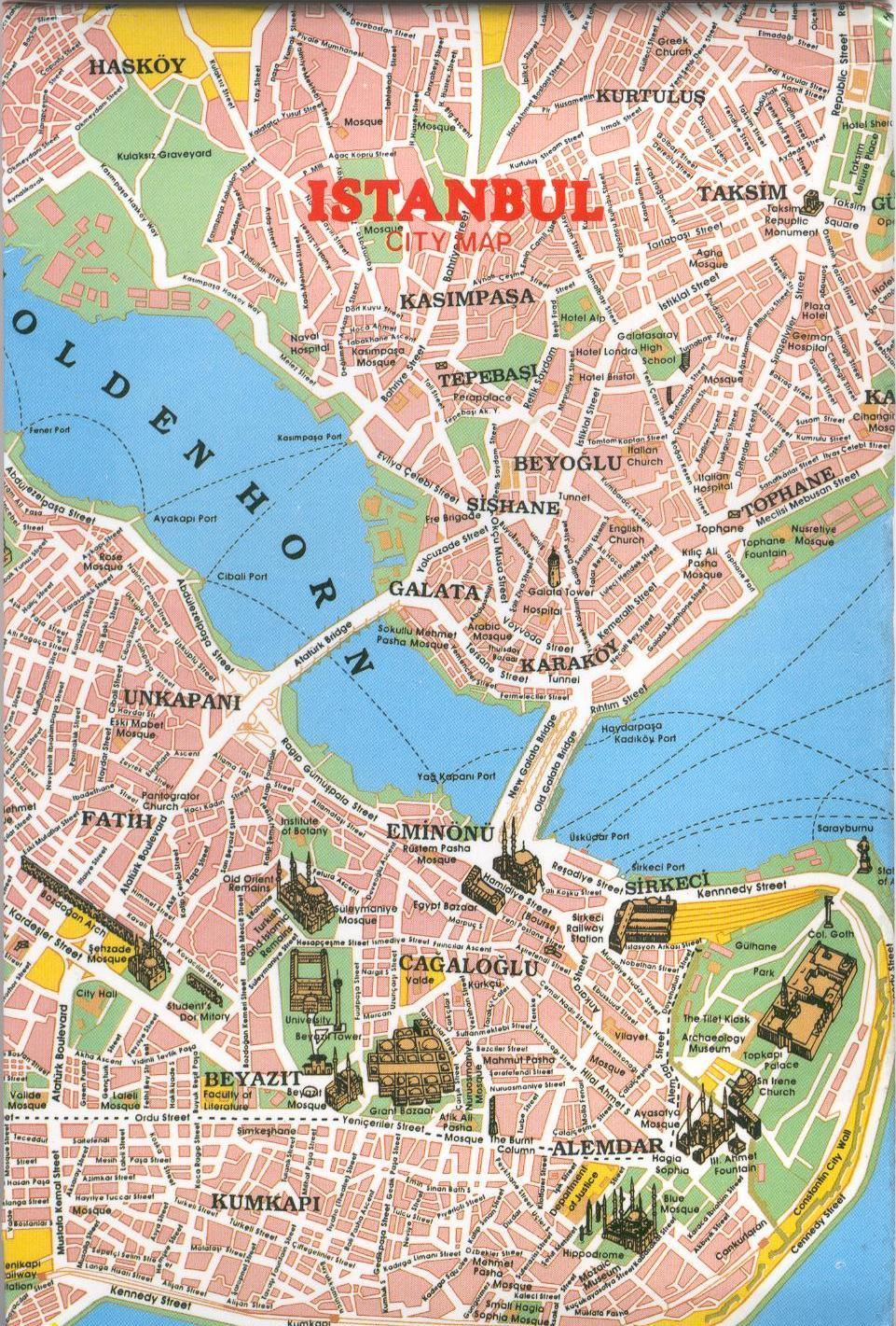 ISTANBUL MAP – Istanbul Tourist Map
