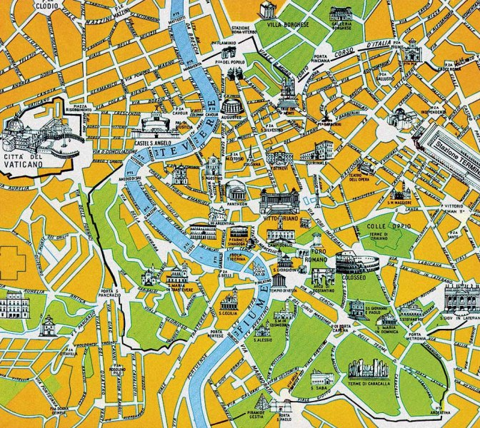EUROPE MAPS – Paris City Map Tourist